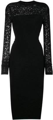 Versace crochet knit dress