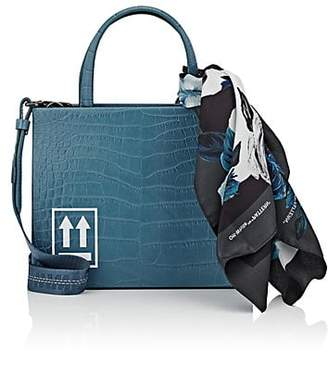 Off-White Women's Small Leather Box Bag & Scarf - Blue