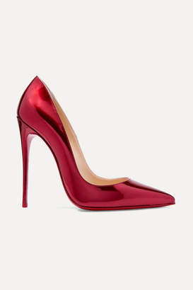 Christian Louboutin So Kate 120 Metallic Patent-leather Pumps - Red
