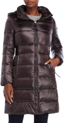 Calvin Klein Quilted Down Long Coat