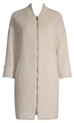 Herno Women's Virgin Wool Silk Trench Coat - Sand - Size 42 (6)