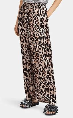 Paco Rabanne Women's Leopard-Print Satin Pants - Brown