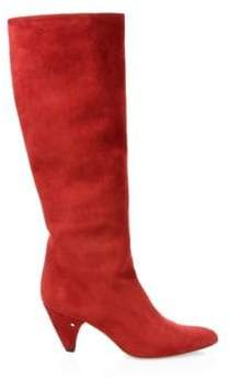 Laurence Dacade Women's Salome Suede Slouchy Boots - Red - Size 38 (8)