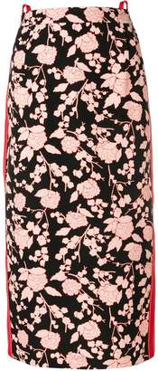 Pinko floral print midi skirt