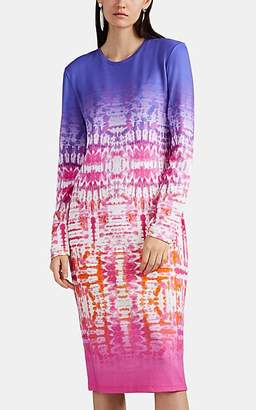 Prabal Gurung Women's Tie-Dyed Print T-Shirt Dress - Grape Multi