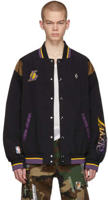 Marcelo Burlon County of Milan Black NBA Edition LA Lakers Jacket