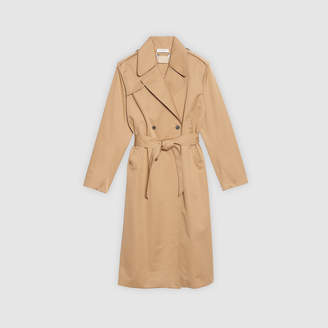Sandro Trench coat with lace insert