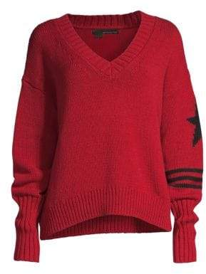 360 Cashmere Women's Karter V-Neck Sweater - Scarlet Black - Size XS
