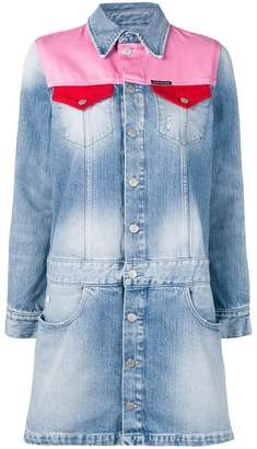 Calvin Klein Jeans contrasting panels denim dress