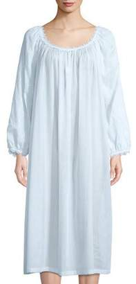 Celestine Fleur Scalloped-Trim Nightgown