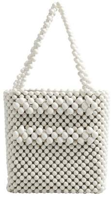 MANGO Beaded shopper bag