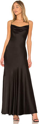 Halston Cowl Neck Slip Dress