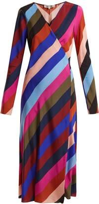 Diane von Furstenberg Carson striped silk wrap dress