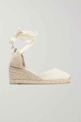 Castaner Carina 60 Canvas Wedge Espadrilles - Ivory
