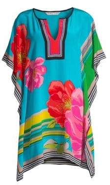 Trina Turk Women's Tourist Theodora Floral Silk Drape Dress - Size XS/Small