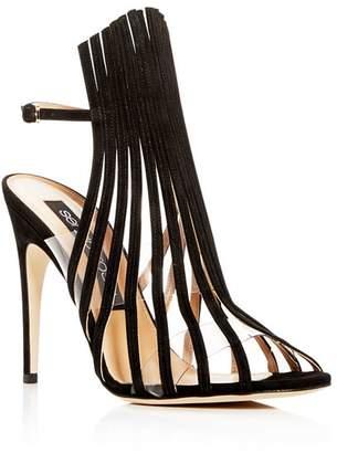 Sergio Rossi Women's Suede Multi-Strap High-Heel Sandals