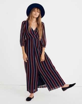 Madewell Wrap-Around Maxi Dress in Stockdale Stripe