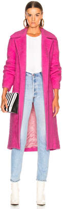 Helmut Lang Nappy Wool Coat in Disco Pink | FWRD