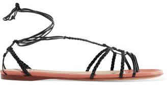 Francesco Russo Braided Leather Sandals - Black