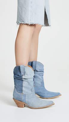 R 13 Low Crunch Cowboy Boots