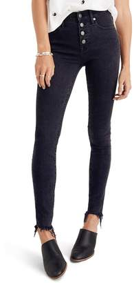 Madewell 9-Inch Button High Waist Ankle Skinny Jeans