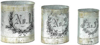 One Kings Lane Asst. of 3 French Numbered Canisters