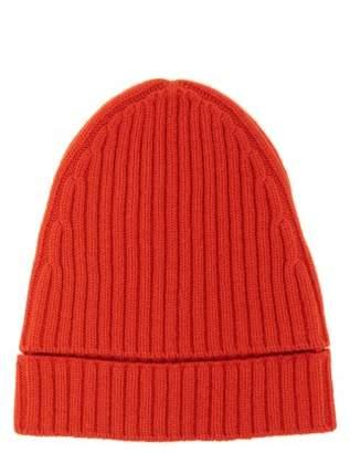 Colville - Ribbed Knit Merino Wool Beanie Hat - Womens - Orange