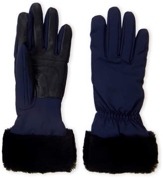 UGG Fur Trim Touch Screen Gloves