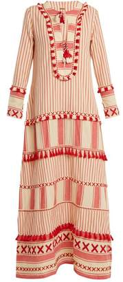 Dodo Bar Or - Samuelle Striped Cotton Dress - Womens - Red