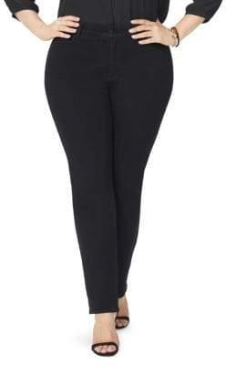 NYDJ NYDJ, Plus Size NYDJ, Plus Size Women's Marilyn Straight-Leg Jeans - Black - Size 14W