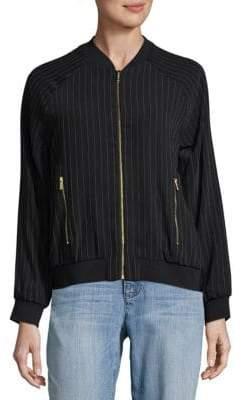 Calvin Klein Stripe Bomber Jacket