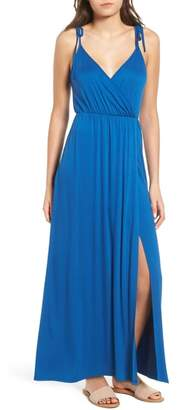 Soprano Faux Wrap Maxi Dress