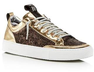 Golden Goose P448 Women's A8 Soho Patent Leather & Sequin Lace Up Sneakers