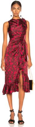 Cinq à Sept Nanon Dress in Rhubarb Camilla Red | FWRD