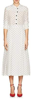 Barneys New York Women's Floral Silk Crêpe De Chine Maxi Shirtdress - Ivorybone