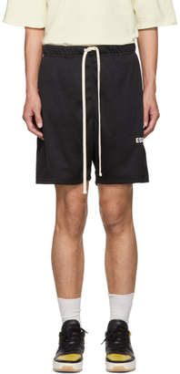 Essentials Black Mesh Logo Shorts