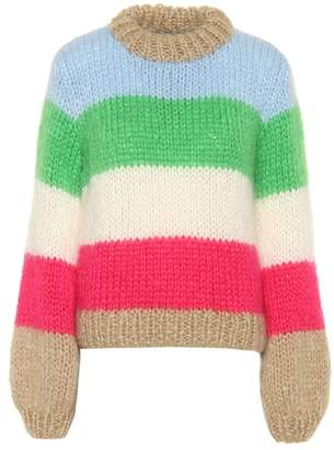 Ganni Julliard mohair-blend sweater