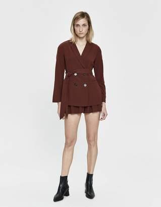 Farrow Mallory Linen Suit Set in Maroon