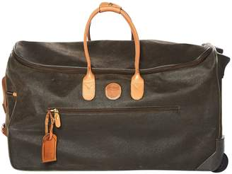 Bric's Brown Suede Travel Bag