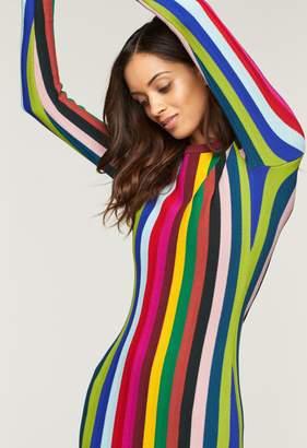 Milly Chevron Vertical Stripe Dress