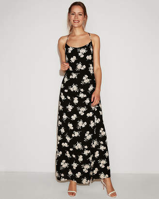 Express Floral Scoop Neck Maxi Dress