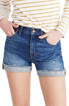 Madewell High Rise Cuffed Denim Shorts