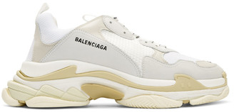 Balenciaga White Triple S Sneakers