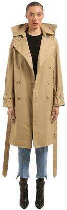 Vetements Adjustable Fit Cotton Twill Trench Coat