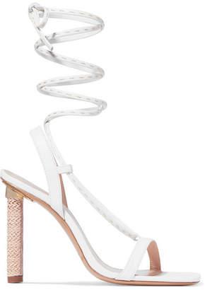 Jacquemus Bergamo Leather Sandals - White