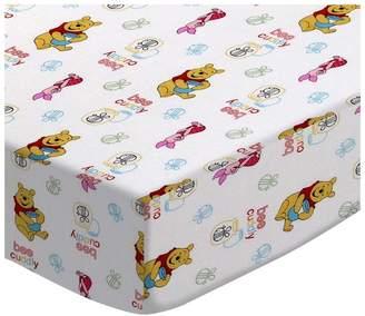 Sheetworld Pooh Bee Cuddly Bedding Sheet Sheet Type: Bassinet