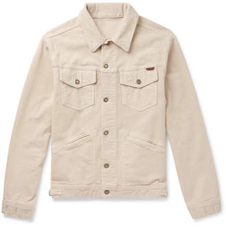 Tom Ford Washed Stretch-Cotton Corduroy Jacket