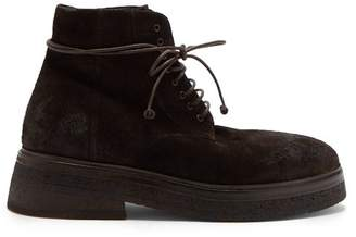 Marsèll Sassacca Suede Boots - Mens - Brown
