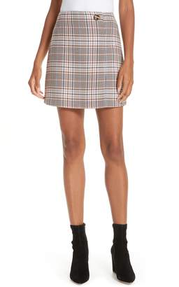 Sandro Plaid Miniskirt