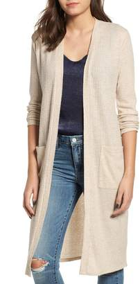 Socialite Waffle Knit Duster Cardigan